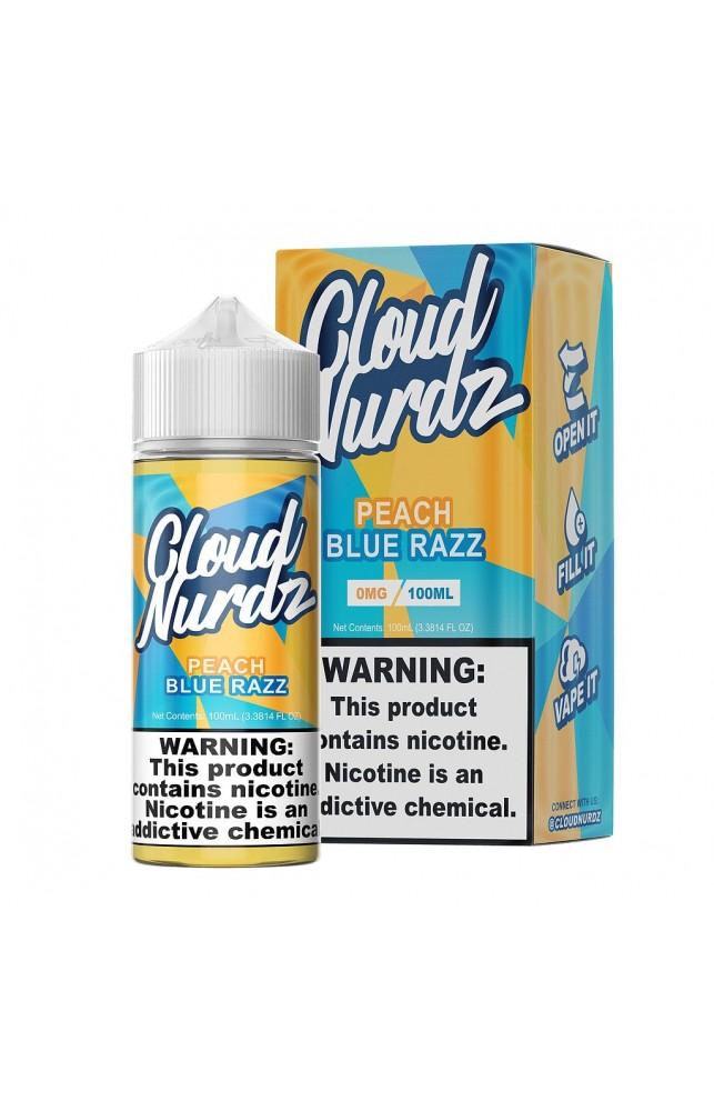 CLOUD NURDZ - PEACH BLUE RAZZ 100ML