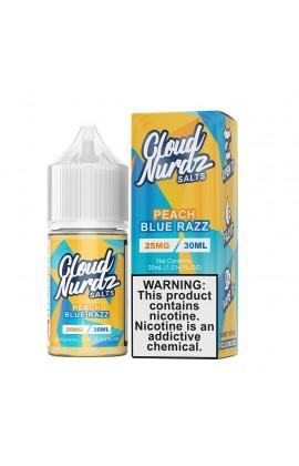 CLOUD NURDZ SALTS - PEACH BLUE RAZZ 30ML