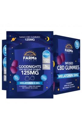 FARMa - INFUSED CBD GOODNIGHTS GUMMY 5CT 125MG PACK OF 10
