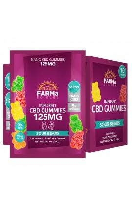 FARMa - INFUSED CBD SOUR BEARS GUMMY 5CT 125MG