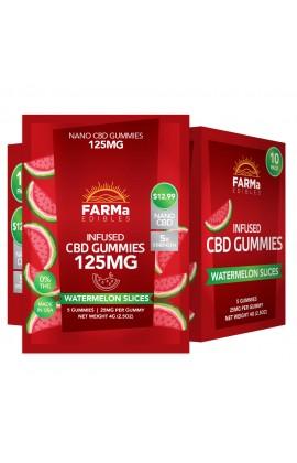FARMa - INFUSED CBD WATERMELON SLICES GUMMY 5CT 125MG