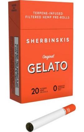 GELATO - CBD CIGARETTE PACK OF 20 CIGARETTES (CARTON OF 10 PACKS)