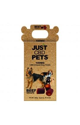 JUST CBD - BEEF WRAPS DOG TREATS JAR 100MG
